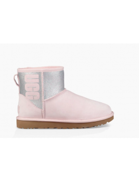 Women's Boots Mini Logo Sparkle Pink