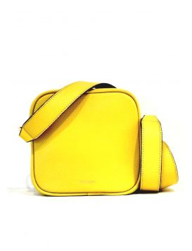 Shoulder Bag Minimal Zip Yellow