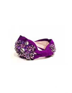 NAN-HB-1369-PURPLE Cerchietto  con Pietre