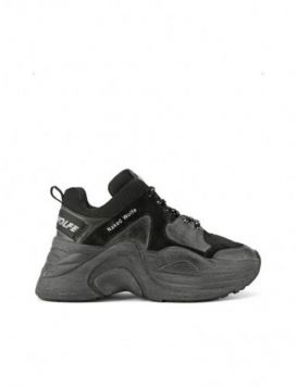 Naked Wolfe Track Sneakers Donna Black Dirty