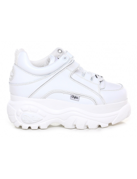 1339-14 Cow Leather Sneakers Donna White
