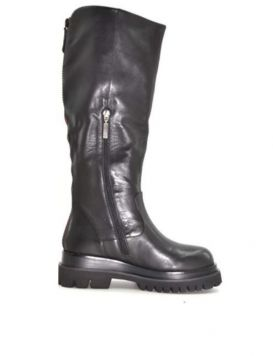 Woman's Boots Zip Calf Black