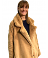 Woman's Fur Over 23 Camel