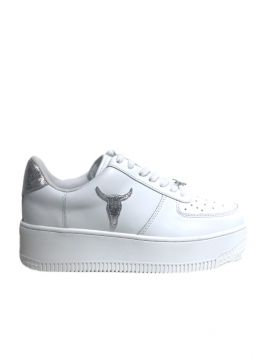 RICH Woman's Sneakers White/Silver Lizard