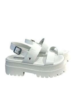 TASTY Woman's Sandals White Leather