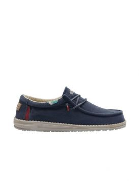 WALLY WASHED Man's Shoes Blue Space