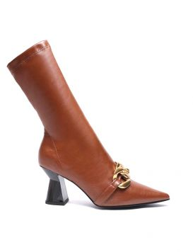412M-215-18-STP Woman's Ankle Boots with stretch chain Leather