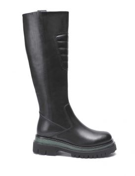 412M-206-18-P075 Woman's Boots with calfskin padding Blk/Green