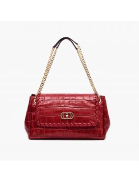 112P-LA-830-COL Infil. Giselle Baguette Cocco Leather Red
